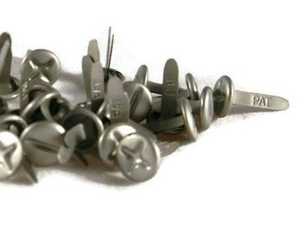 Pewter Screw Top Brads - Bulk 25pc Tools | Scrapbooking | Paper Fasteners | Men