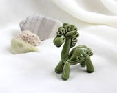 Tiny Meadow green Pegasus - Hand Made Ceramic Eco-Friendly Home Decor by studio Vishnya