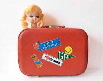 Vintage doll head // retro kitsch blonde hair // rubber purse making decoration supply multi purpose