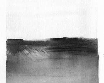 Original Watercolor Landscape Painting Midwest Prairie