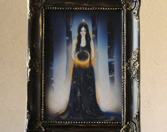 Print - Poster - Limited Edition - Moon - Gold - Night - Star - Luna 1/10