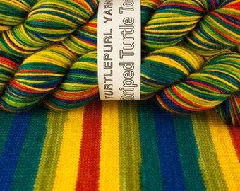 Polly Wanna Cracker- Hand Dyed Self-Striping Sock Yarn