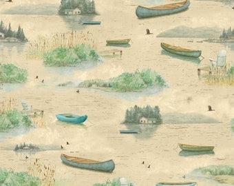 Lakeside Retreat cream coordinate from Wilmington Fabrics by artist Daphne B