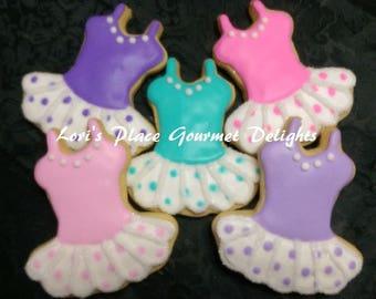 Tutu Cookie Favors - Ballerina Cookie Favors - Ballerina Tutu cookies - 1 Dozen
