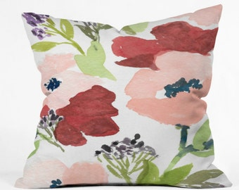 Pink Poppies Indoor Throw Pillow