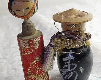 2 Kokeshi Dolls