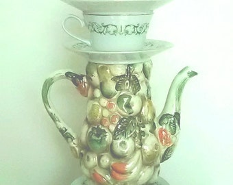 Teapot and Teacup Lamp, Vintage, One of a Kind, Lamp on sale