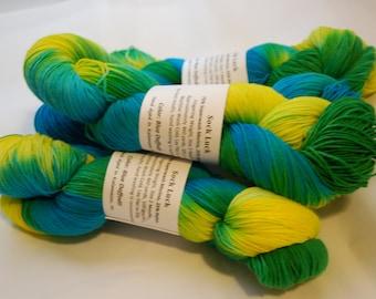 Studio June Yarn Sock Luck - Superwash Merino Wool, Nylon - Blue Daffodil