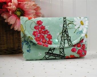 Snap Pouch / Large Snap Pouch / Cosmetic Pouch ... Paris Panache / Eiffel Tower Paris