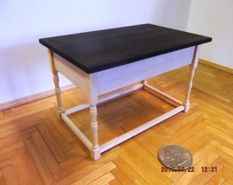 Miniature Table With Ebony Top