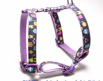 XLarge Custom Dog Harness / 25-40 inch Girth / CHOOSE your design from shop /Roman H style