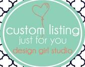 Custom listing for JeffT - Custom birdal shower banner