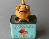 Hungry Goldfish -- Fish Only-- Custom Ceramic Sculpture RESERVED for Dena
