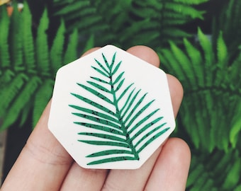 Palm Leaf Brooch