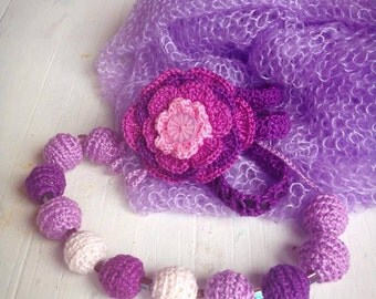 Crochet Necklace Crochet Flower Headband Newborn Props