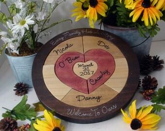 Custom Designed Personalized Unity Ceremony Wedding Puzzle Unity Ceremony Alternative  Personalized Blended Family Wedding Gift