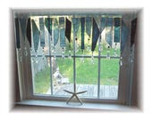 RESERVED FOR ASHLEY Seaside Stormy Weather Number Two  Stained Glass Window Treatment Valance Curtain