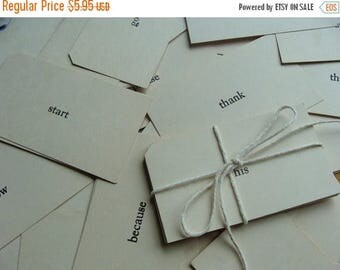 ONSALE One Dozen  Vintage Word Flash Cards