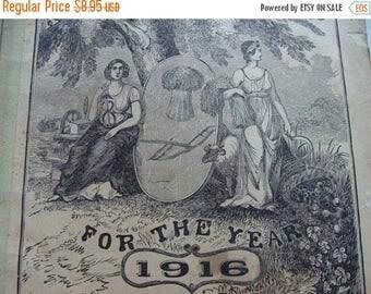 ON SALE One 1900s  Almanac