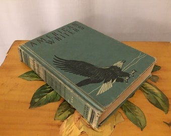 American Writers Book Vintage Green Hardcover Bald Eagle Cover