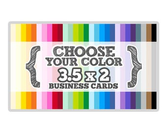 3.5 x 2 inches - Business Card - Choose Your Color - Die Cut Tags - Party Favors, Escort Cards, Bracket Labels, Price Tags, Hang Tags