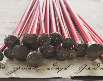 All Red Vintage Knitting Needles Set