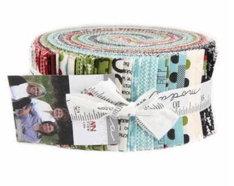SUMMER SALE - Hometown Christmas - Jelly Roll - Sweetwater for Moda Fabric