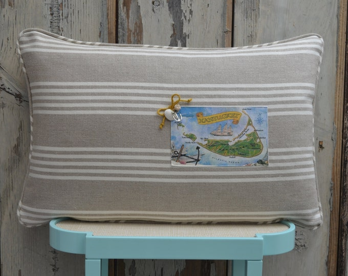 Nantucket Island Postcard Pillow  (available in 4 styles)