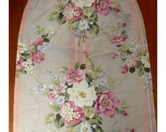 Shabby Vintage Barkcloth Fabric Curtain Panel