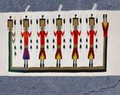 Original Navajo Yei rug, Southwest woven tapestry
