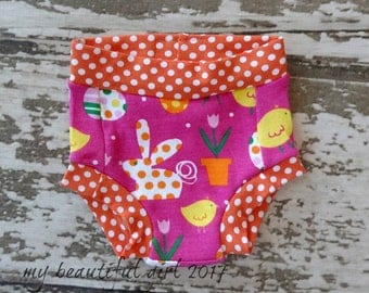 Easter dots GROW with ME Training Pants - You choose the Size, easter bunny, pink eggs dots, organic bamboo, color pull ups