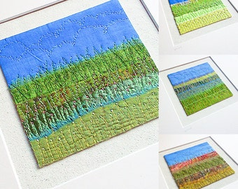 Meadow Original Textile Embroidery