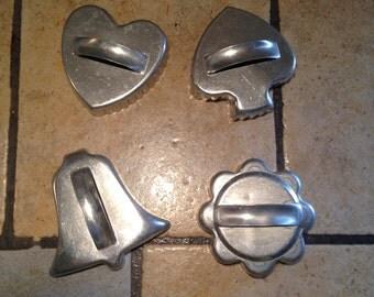4 Aluminum Cookie Cutters