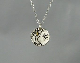 Tree Necklace with Gold Accent