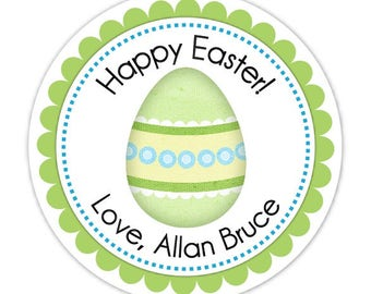 Custom Easter Egg Labels, Stickers - 2.5 inch round - Personalized for YOU