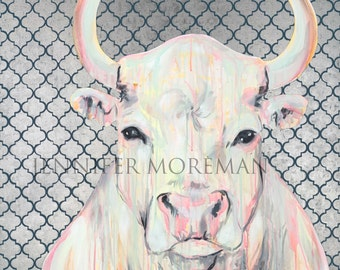 Bull in a China Shop giclee print by Jennifer Moreman