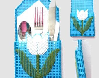 Silverware Pockets - Tulips - Set of 4