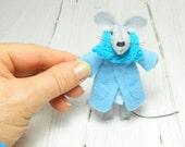 Animal felt brooch Kids jewelry Felt brooch backpack light blue turquoise children brooch  funny brooch