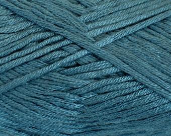 Bamboo yarn, cotton yarn, vegan, blue yarn, DK weight, light worsted, yarn for knitting, crochet, amigurumi yarn, soft yarn