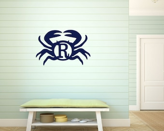Crab Wood Monogram door sign