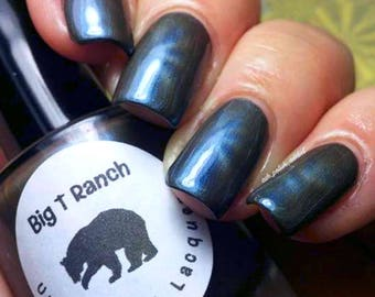 """Magnetic Nail Polish - Blue - """"Sapphire"""" - Magnet Included - Full Size 15ml Bottle"""