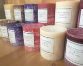 Hand Poured Eco Friendly Palm wax Candles. Scent Nutmeg and Cedar.