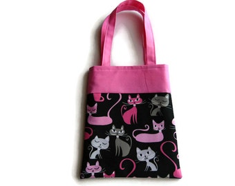 Small Cat Gift Bag - Goodie Bag - Mini Tote