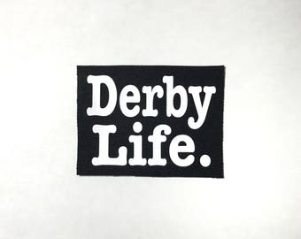 Roller Derby Derby Life Iron-on Patch