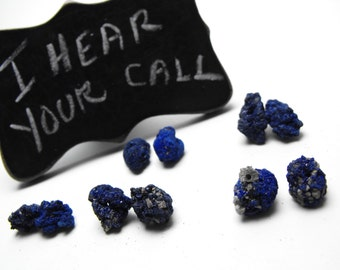 RAW AZURITE NUGGETS 00352d precious gemstone beads matching earring pairs free form multi size blue green unstabilized rough mineral nodules
