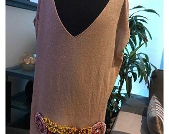 Gold vest with Afghan handicraft
