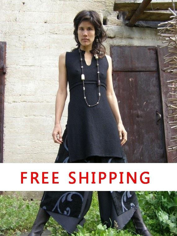 Free Shipping Womens clothing-Women's chic skirt-Art to wear -The  Art  chic slit skirt-layer womens skirt-Elegant womens skirt-Eveni...