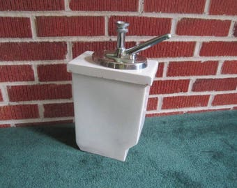 Vintage Hall Soda Fountain Chrome Dispenser from Midwest Estate