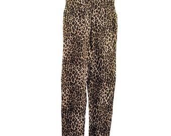 Animal Print Leopard Vintage Jumpsuit S