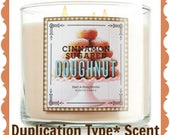 CINNAMON SuGARED DONuT Scented Soy Wax Melts Tarts - BBW Duplication Type* - Yummy Bakery Sweets - Dessert - Food - Handmade In USA